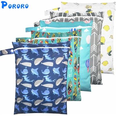 Bolsa húmeda impermeable, bolsas de pañal de tela para bebé, bolsas húmedas de viaje secas, bolsas al por mayor con cremallera, bolsa húmeda reutilizable para pañales de bebé, bolsa de 30x40cm