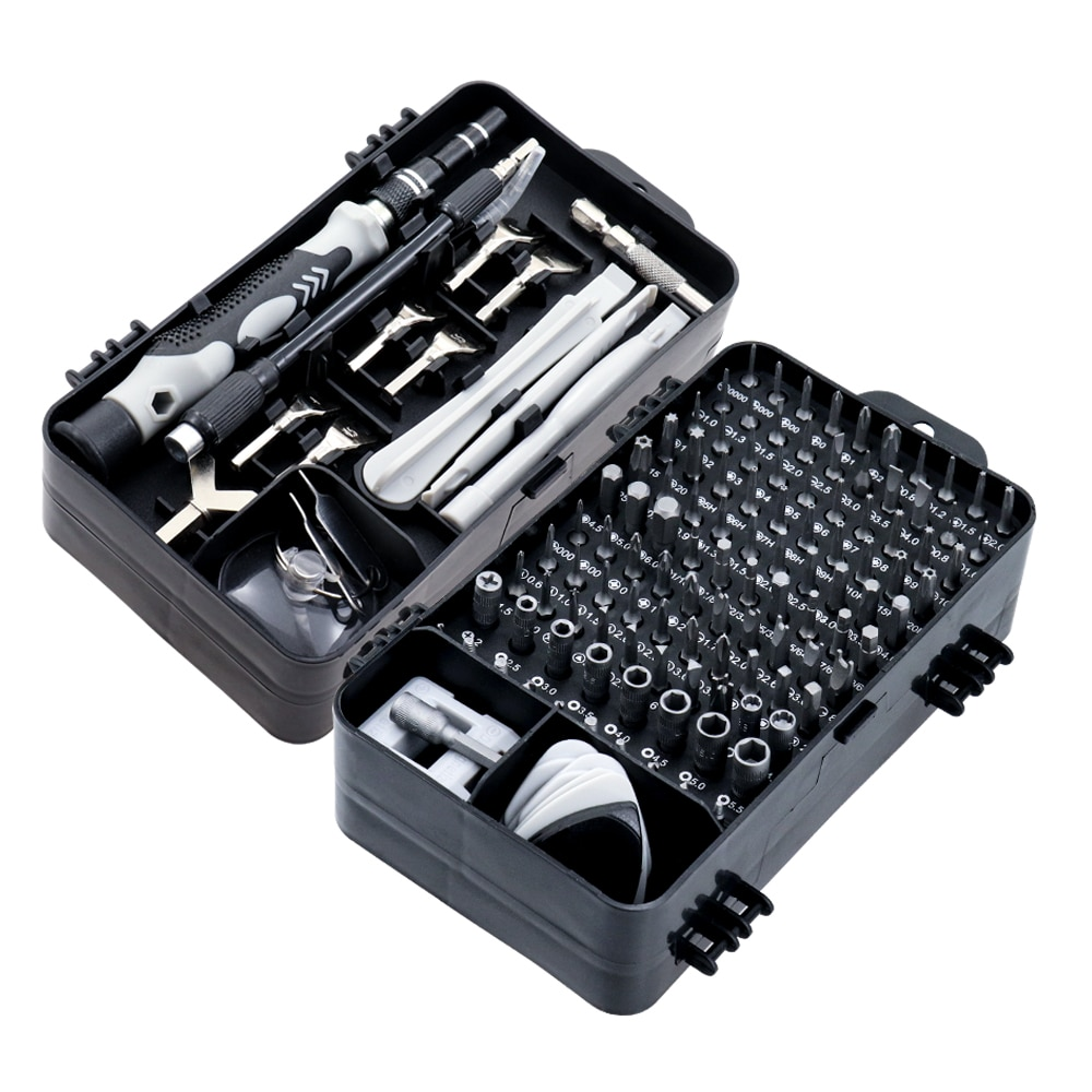 Set de șurubelnițe 135/25 în 1 S2 de set de șurubelnițe, dispozitiv multifuncțional de precizie pentru repararea telefonului mobil, scule manuale
