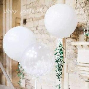 5-36 дюймов воздушные шары, огромные латексные воздушные шары, белые прозрачные цвета, яркие цвета, гелиевые воздушные шары для дня рождения, ...