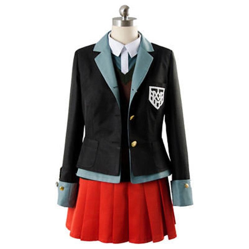 Yumeno himikoアニメdanganronpaコスプレハロウィンパーティー男性女性日本制服コスプレ衣装コート + シャツ + ベスト + スカート + 帽子