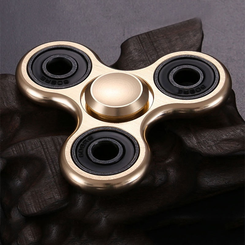 Aluminum Alloy Fidget Spinner R188 Smooth Mute Bearing Metal Wire Drawing Process Stress Relief Hand Spinner for Adult Children enlarge