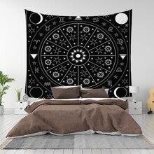 Tentures murales européennes Vintage   Tapisserie de Witchcraft, lune de soleil, étoile de dortoir, tête de lit, tapis, couverture astrologie