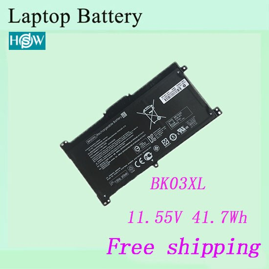 De alta calidad, batería del ordenador portátil para HP BK03XL HSTNN-UB7G TPN-W125 batería envío gratis