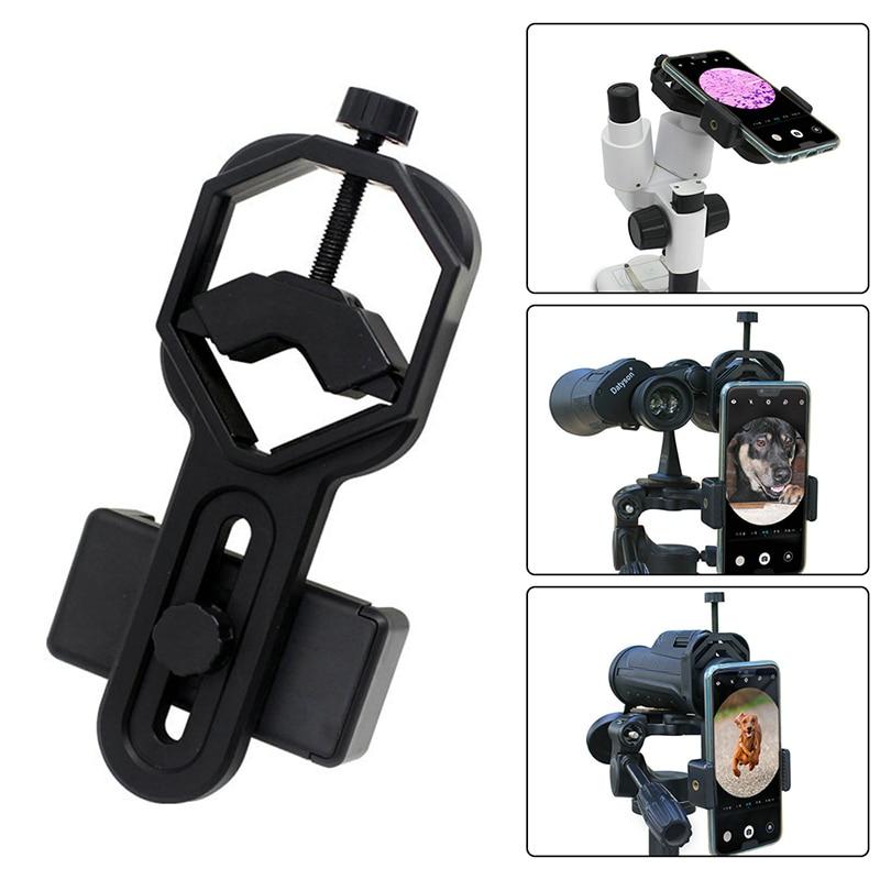Universal Plastic Telescope Smart Phone Adapter Mount for Binocular Monocular Spotting Scope Telescopi &10X Handheld Magnifier