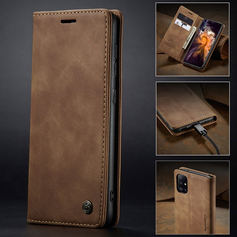 Case for Samsung Galaxy A32 Premium Leather Wallet Case with Card Slots Kickstand Magnetic Protective Flip Phone Shell Cover  - buy with discount