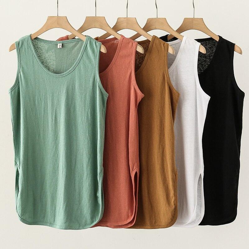 Spring Summer Women Tank Tops 2021 Fashion O-neck Sleeveless Lady Bustier top W808