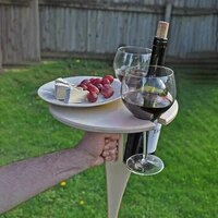 portable wine table foldable round desktop mini wooden picnic easy carry camping mesa plegable garden furniture sets for outdoor