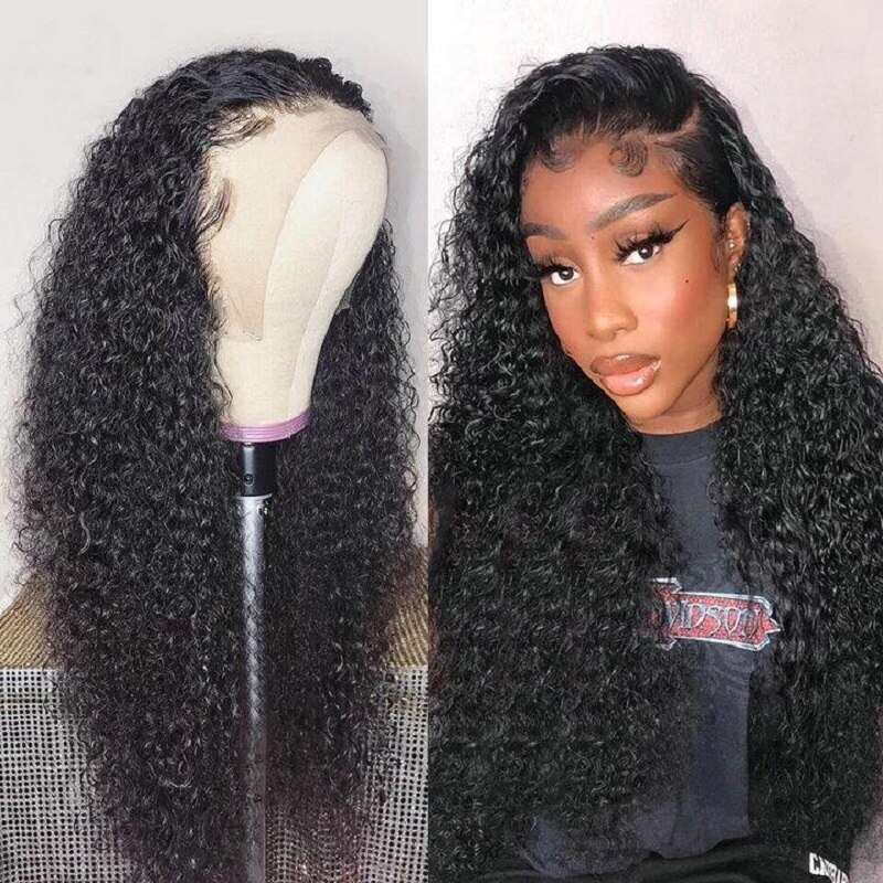 Deep Wave Frontal Wig 13x6 Lace Front Wigs Human Hair Wigs For Women Deep Curly 4x4 Lace Wig Pre Plucked Brazilian Deep Wave Wig