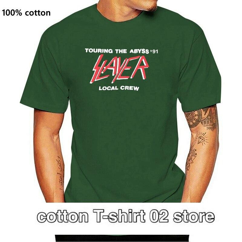 Vintage cazadora equipo LOCAL 1991 abismo Tour camiseta reimpresión S-XXL