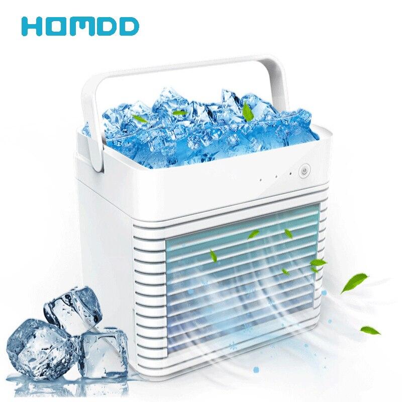HOMDD آيس كيوب مياه التبريد مروحة سطح المكتب المحمولة تكييف الهواء مروحة المرطب ماكينة رش مروحة تبريد الهواء الكهربائية الصيف