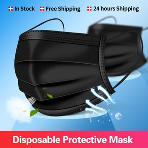Mask Disposable Nonwove 3 Layer Ply Filter Mask mouth Face mask filter safe Breathable Protective masks Fast Shipping mascarilas