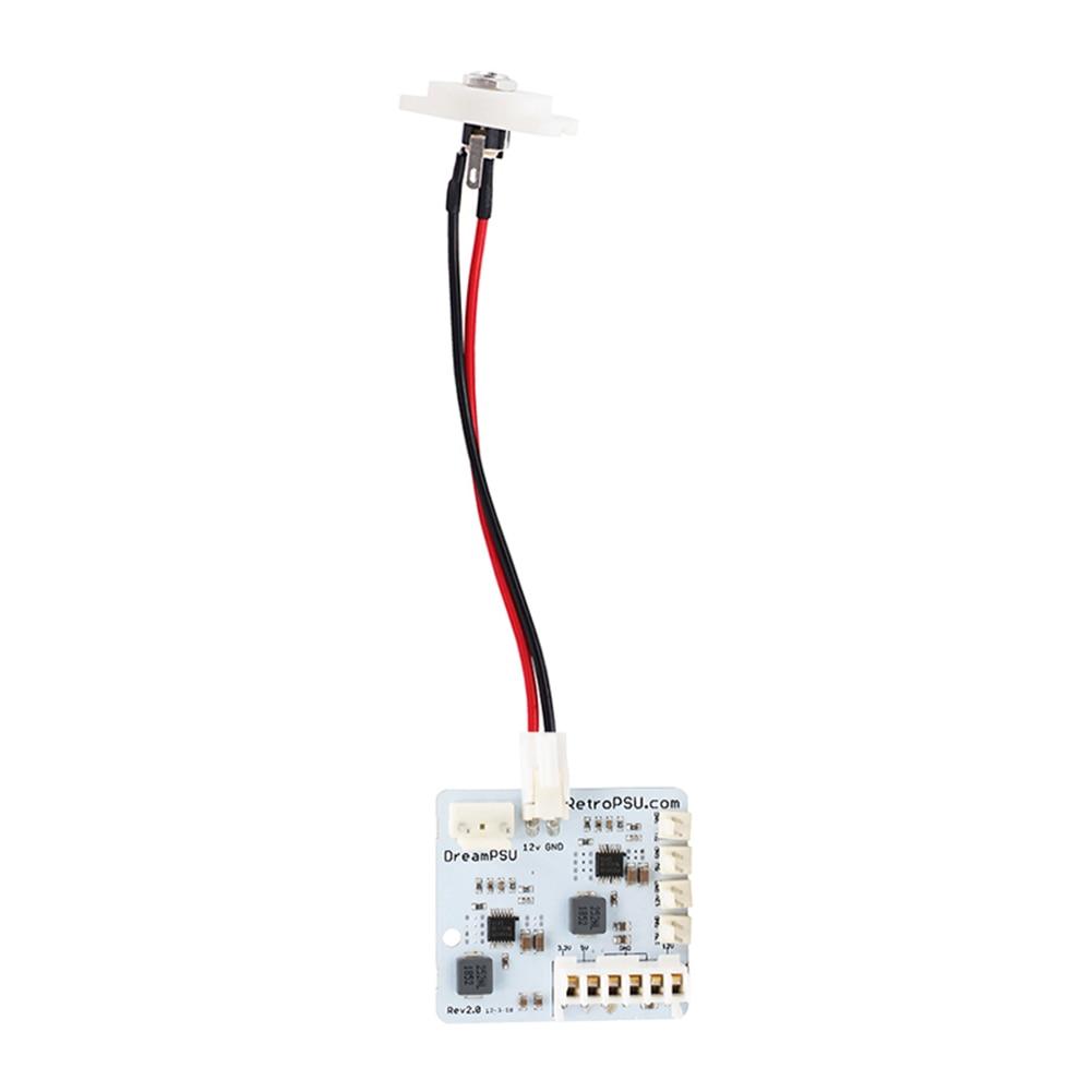 وحدة تحكم من alloyبالدخول موديل DreamPSU Rev2.0 مزوّدة طاقة 12 فولت لوحدة تحكم SEGA DreamCast قطع غيار ملحقات الماكينة الإلكترونية