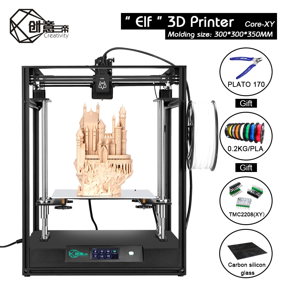 Creativity 3D Printer Stable Frame Kit With TMC2208 Silent Drive Resume Power Off Cmagnet Build Plate 3д принтер