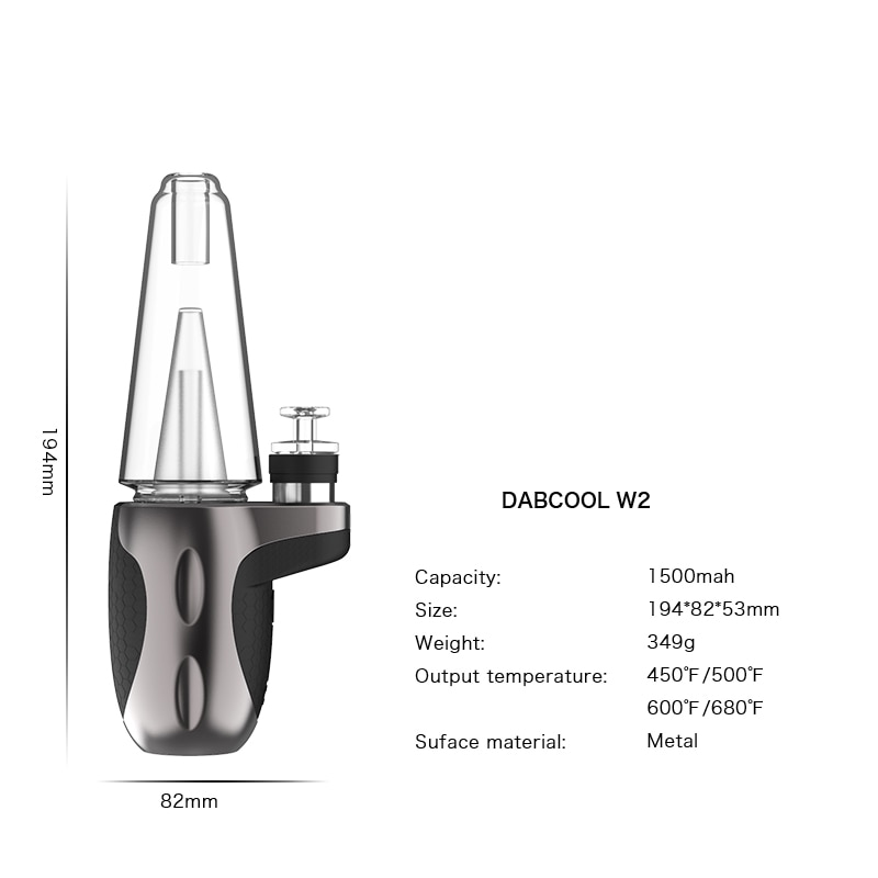 Electric Dab Rig Dabcool  W2 Kit 1500mah Battery Upgraded IPX4 Waterproof Heating Base Enail for Wax Concentrate Shatter Budder enlarge