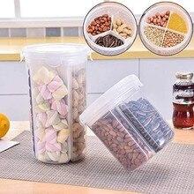 Separated Grain Storage Tank Transparent Plastic Coffee Bean Snack Storage Box Kitchen Dry Food Preservation Storage Sealed #25