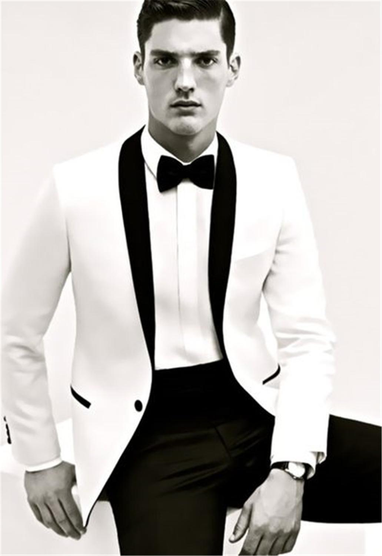Custom Made Slim Fit Groom Tuxedos Best man Shawl Black Collar Groomsman Men Wedding Suits Bridegroom (Jacket+Pants+Tie+Girdle)