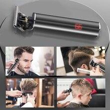T9 LCD Rechargeable tondeuse à cheveux noir rouge squelette frappeur sans fil tondeuses électriques à tête de baldaquin tondeuse à barbe
