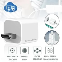 photo storage device for iphone and ipad automatic backup charger adapter