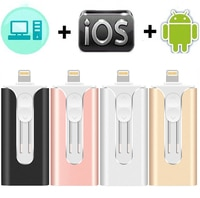 USB флеш-накопитель OTG 64G 128g, флеш-накопитель 3 в 1 u, диск для apple iphone, карта памяти 256 ГБ, роскошный android USB флешка i DRIVE 3,0