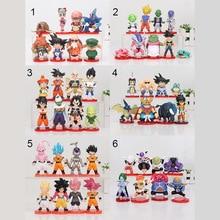 8 pièces/ensemble 3-10cm Dragon Ball Z WCF Son Goku chichi DWC Gohan Piccolo végéta Nappa Raditz Freeza PVC figurine modèle jouet