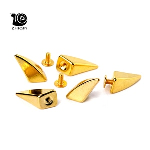 100sets Golden Dragon Claw Punk Spike Studs Metal Screw Back Leathercraft Shark Findings For Leather Pet Collars Bags Bracelets
