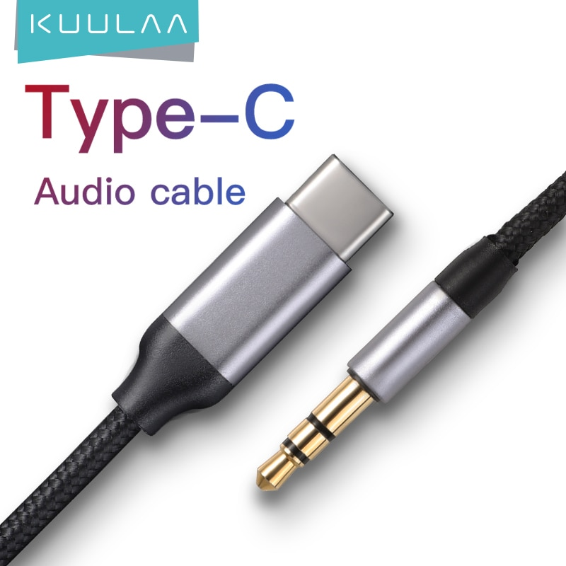 KUULAA USB C to 3.5mm AUX Headphones Type C 3.5 Jack Adapter For Huawei Mate 20 P30 Oneplus 7 pro Xi