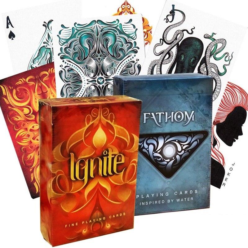 Элюсионист, воспламеняемые игральные карты, волшебные карты для велосипеда, водная колода, волшебные карты, реквизит для профессионального...