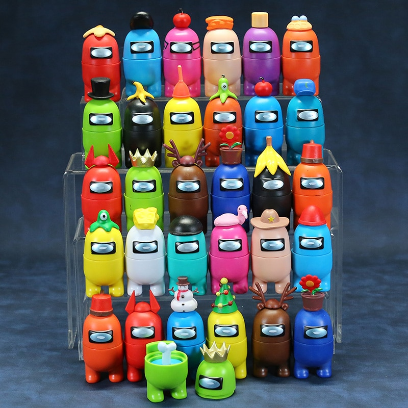 Among Action Figures Game Toys AMUS Car Decoration Dolls Christmas Birthday Gifts 12pcs 10pcs 8pcs 7pcs