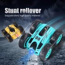 RC Car 2.4G 4CH Double-sided bounce Drift Stunt Car 3.7 inch Rock Crawler Roll Car 360 Degree Flip R