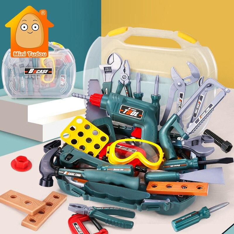 conjunto de ferramentas de reparo para simulacao de criancas chave de fenda de plastico