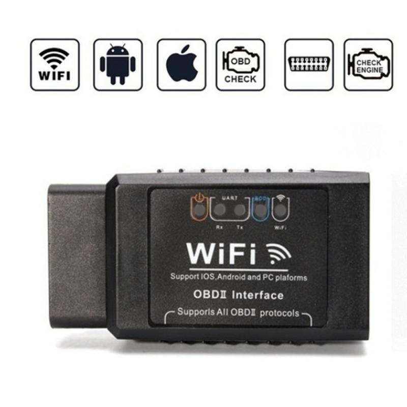 Мини OBD 2 ODB II ELM 327 WIFI ODB2 Автомобильный сканер детектор считыватель кодов диагностический инструмент Ремонтный автомобильный комплект поддержка системы Android Ios