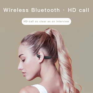 outside-ear Bone Conduction Headphones Bluetooth wireless Sports Earphone Headset  Hands-free with microphone For Running