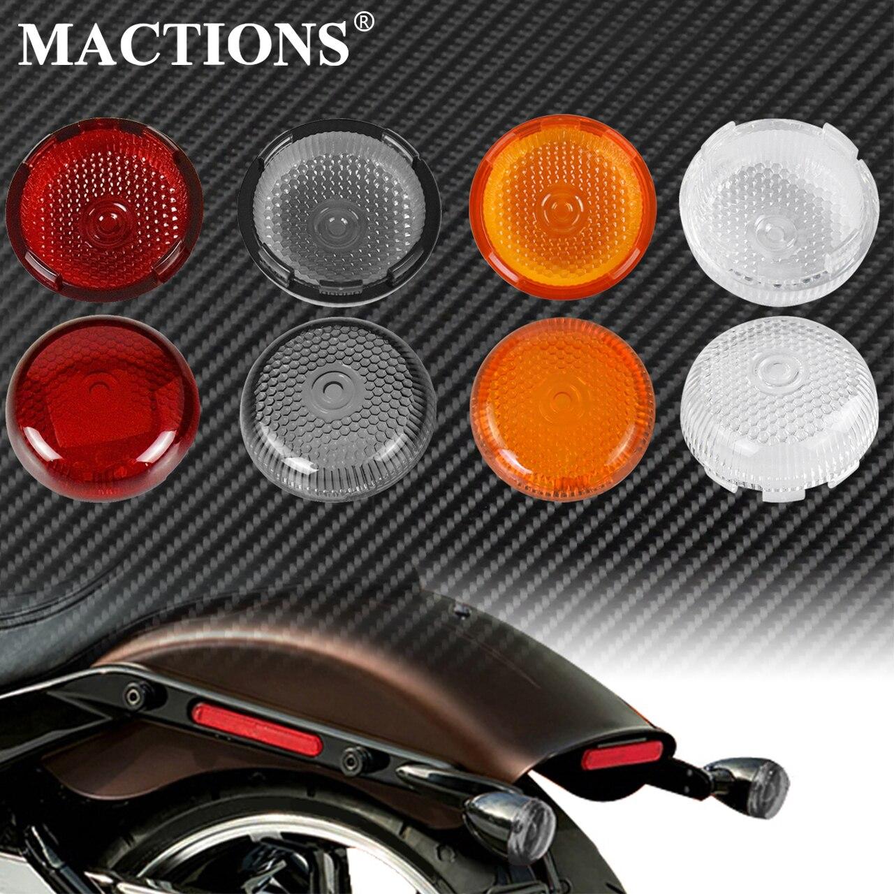 Couvercle de lobjectif du feu clignotant   Moto, 2 pièces, pour indicateur, Harley Softail Heritage Touring Road King Dyna Fatboy Sportster