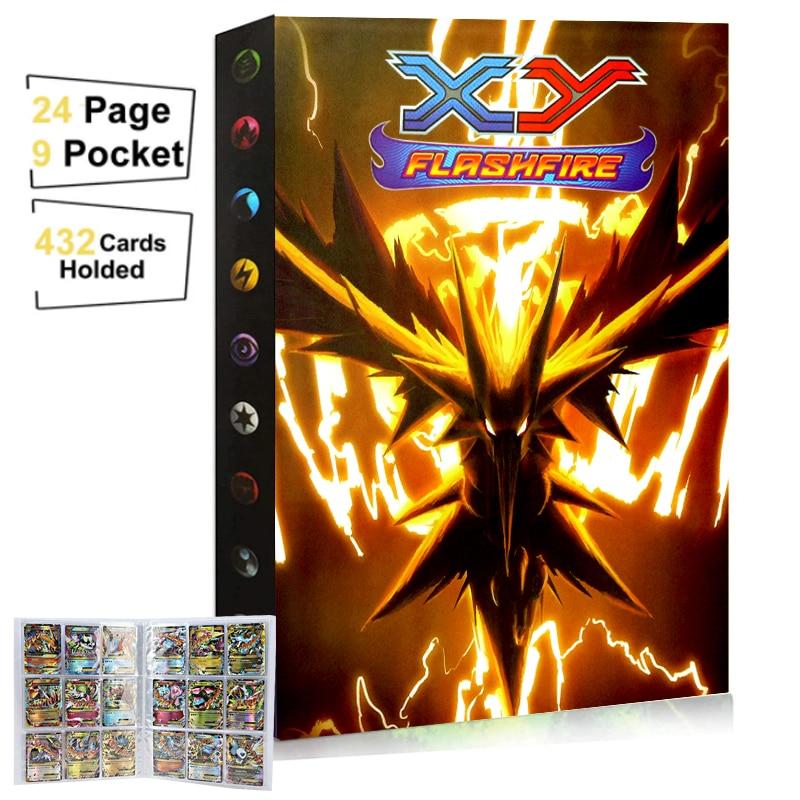 Альбом для карт с 9 карманами Pokemon 432, книга для игр, папка для карт VMAX GX, папка-держатель для коллекции карт покемона, игрушки