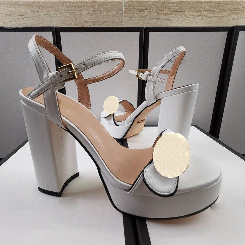 summer Super High heels Women sandals shoe platform heel Womens Buckle Strap soft Genuine leather quality sandal big size shoes enlarge
