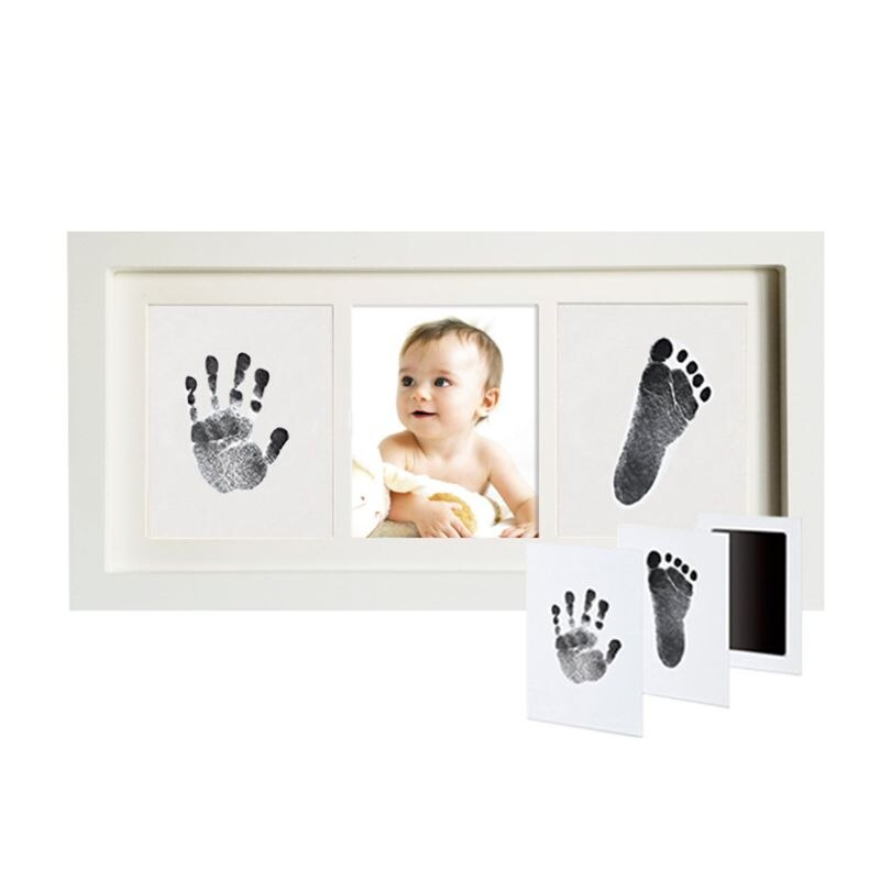2020 nova Didplay Bela Pearhead Babyprints Recém-nascidos Handprint e Pegada Photo Frame Kit Seguro Para O Bebê Limpo-Touch