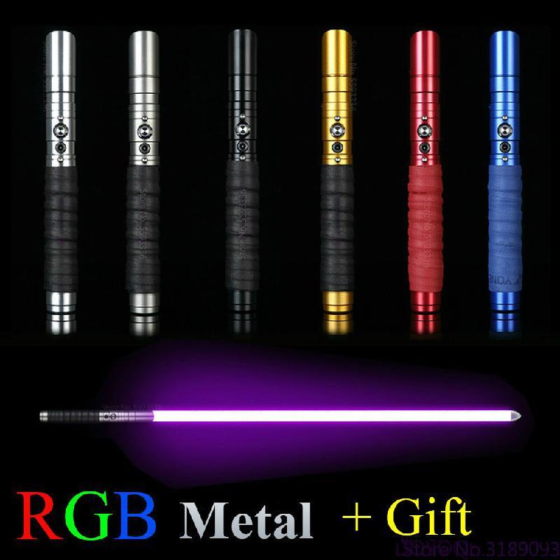 11 Changing Color Lightsaber Rgb Light Saber Lighting Heavy Dueling  Sound Metal Handle