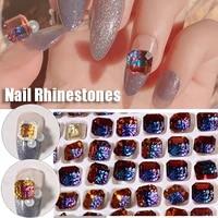3d shiny diy relief lotus diamonds nail crystal jewelry nail rhinestones nail art decorations manicure ornaments