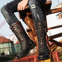 2020 new autumn combat boots male high top cushioning military male tactical male fashion martin male martin motorcycle boots
