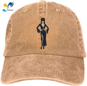 Elvira Denim Caps for Mens Womens Baseball Hats Summer Winter Unisex Casquette