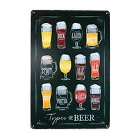 types of beer sign vintage hanging poster house cafe restaurant home art painting