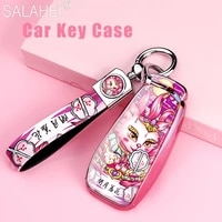 tpu car key case cover shell protection for mercedes benz a b c e s class w204 w205 w212 w213 w176 glc cla amg w177 keychain bag