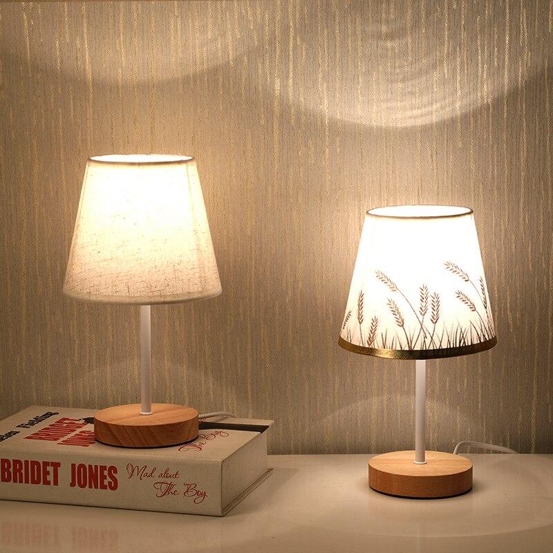 بسيطة الحديثة الجدول مصباح غرفة نوم دراسة السرير دراسة القراءة مصباح خشب متين هدية عيد ميلاد الإبداعية ليلة ديكور الإضاءة