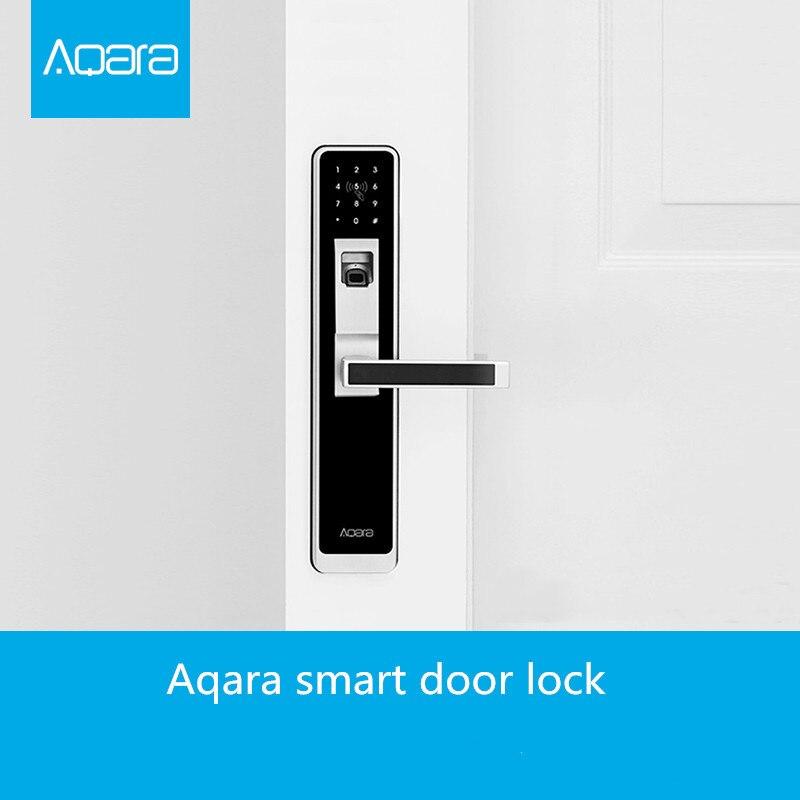 Aqara WiFi отпечаток пальца умный дверной замок для домашней безопасности-серебристый и черный для умного приложения