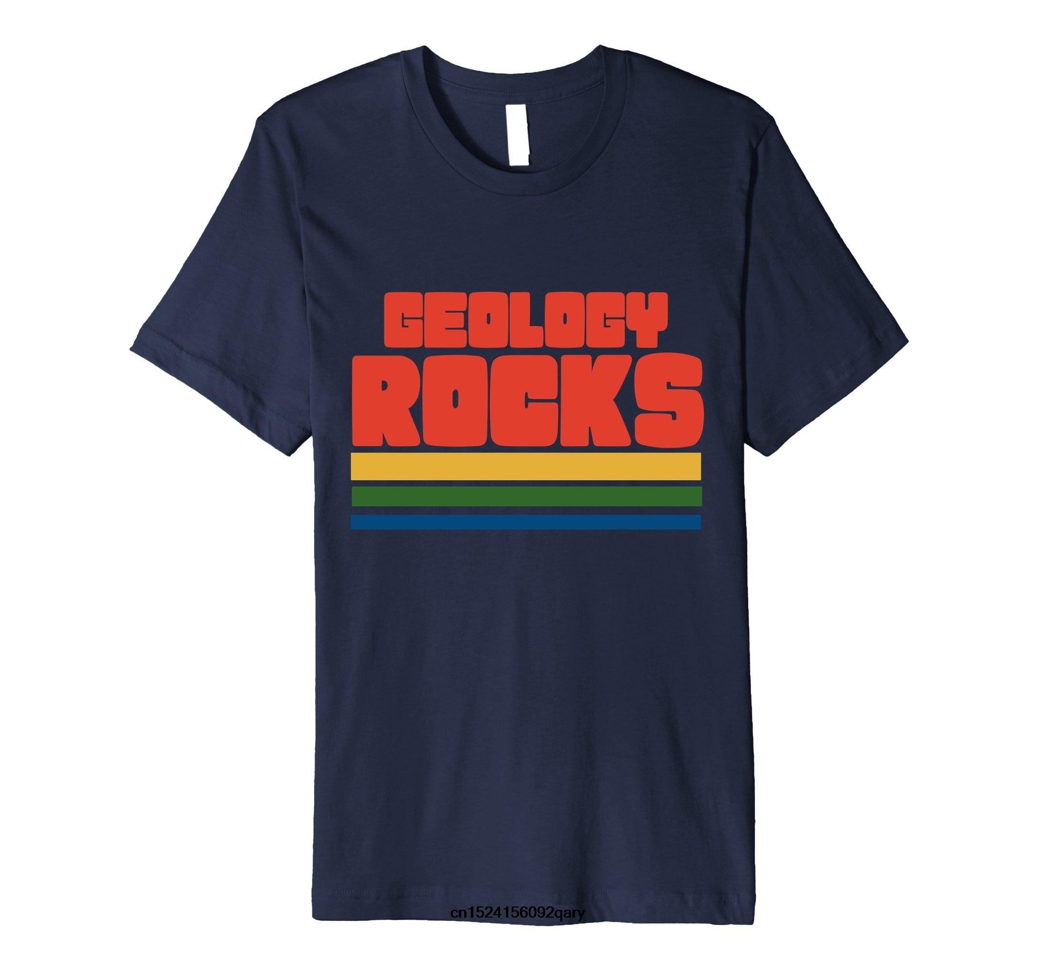Homens Camisa Engraçada de T Mulheres Esfriar t-shirt retro geólogos camisetas tshirt Rochas Geologia geologia