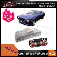 110 pc rc shell body1970 ta22 1600gt 200mm width classic liftba pony car transparent shell body for rc drift mst yokomo hpi hsp