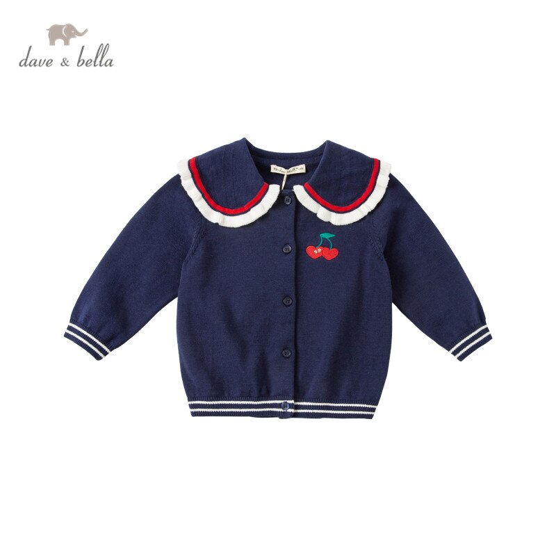 DBM16935 dave bella весенний кардиган для маленьких девочек с мультяшным рисунком Детское пальто для малышей Детский милый вязаный свитер|Свитера| | АлиЭкспресс
