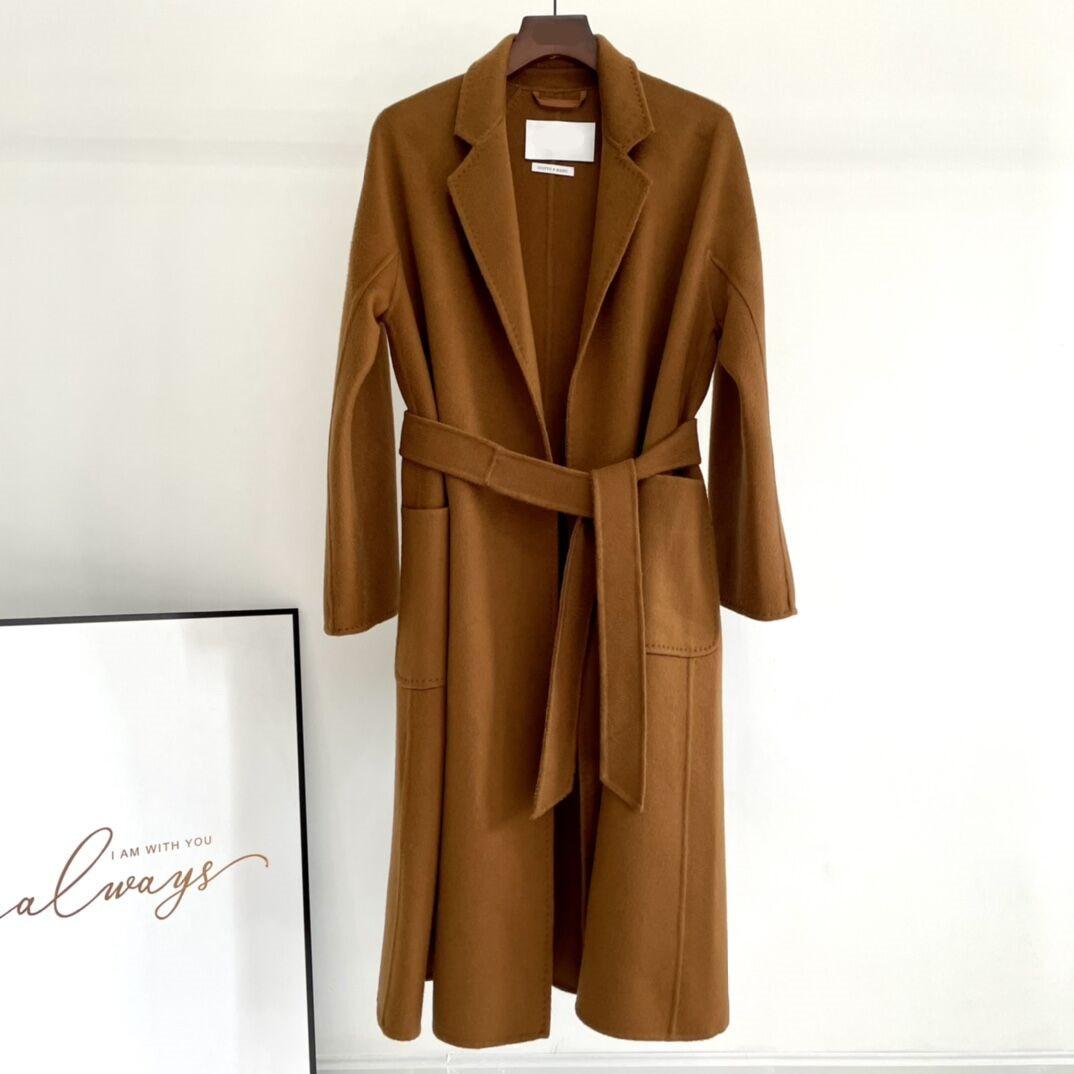 Labbro 100% الكشمير المياه تموج معطف امرأة طويلة معطف من قماش الكشمير 2021 الخريف الشتاء جديد الراقية مزدوجة الصدر معطف الصوف Femal