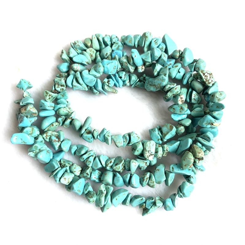 "1 corda 32 ""natural magnesite turquesa chip grânulos 4-7mm microplaquetas nugget gem pedra joias grânulos soltos para fazer jóias"
