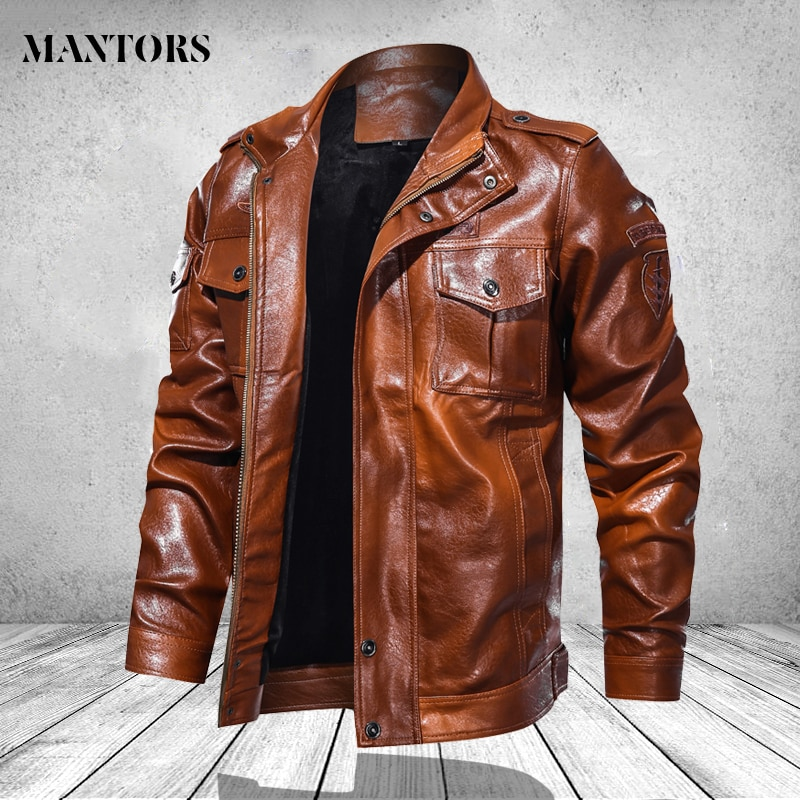 Chaqueta de piel sintética para hombre, chaqueta de piel para invierno 2020 para motocicleta, abrigo de otoño para hombre, prendas de vestir a la moda, cazadora Punk para hombre 4XL 5XL